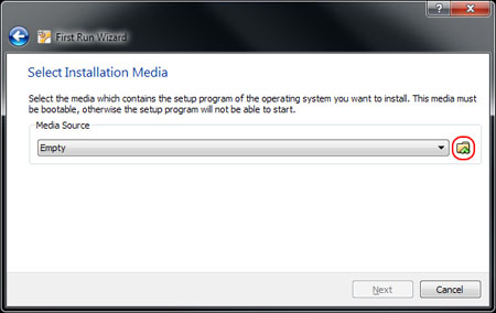 VirtualBox Mount Media